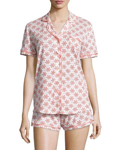 Cosabella Bella Snowflake-Print Jersey Pajama Set