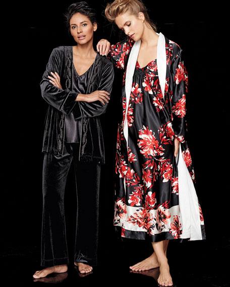 Charmeuse & Velvet Lounge Pajama Set