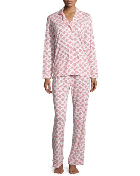 Cosabella Bella Snowflake-Print Pajama Set