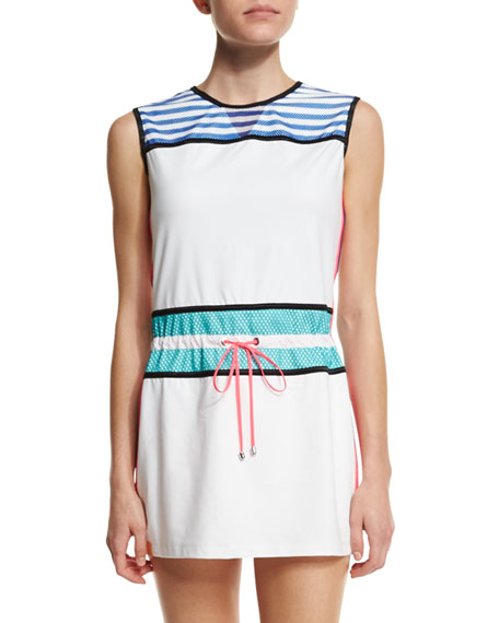 Monreal LondonSleeveless Drawstring-Waist Signature Sport Dress,