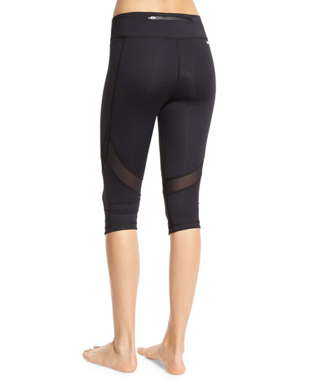 Take Sides Stretch Cropped Performance Leggings