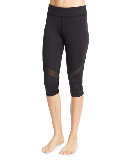 Alala Take Sides Stretch Cropped Performance Leggings