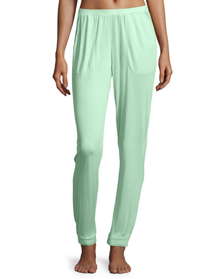 Hanro Susana Long Lounge Pants, Jade