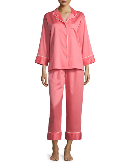 Natori Solid Two-Piece Pajama Set, Daiquiri Pink