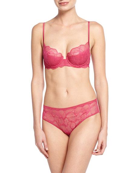 La Perla Iris Lace-Front Briefs, Pink
