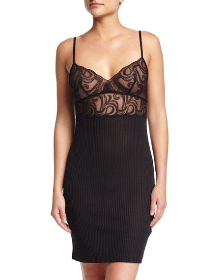 la perla clio lace top chemise black neiman marcus. Black Bedroom Furniture Sets. Home Design Ideas