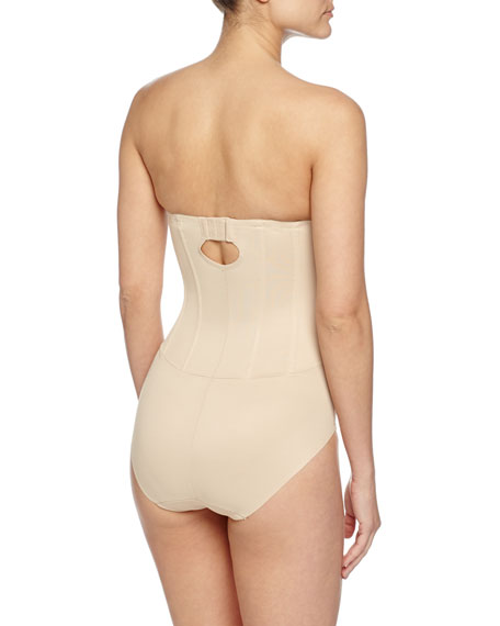 Sheer Bodybriefer Strapless Shaping Bodysuit