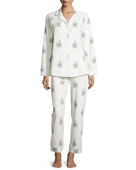 Bedhead Cocktails In Paris Printed Pajama Set
