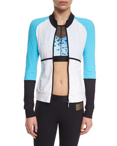 Monreal London Featherweight Colorblock Zip-Up Sport Jacket,