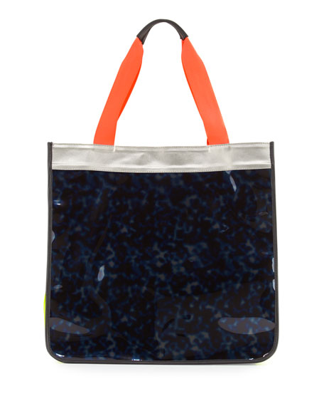 Monreal London Hero Colorblock Vinyl Tote Bag