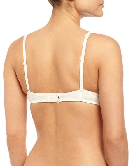 Saga Non-Padded Lace Demi Bra, Ivory/Nude