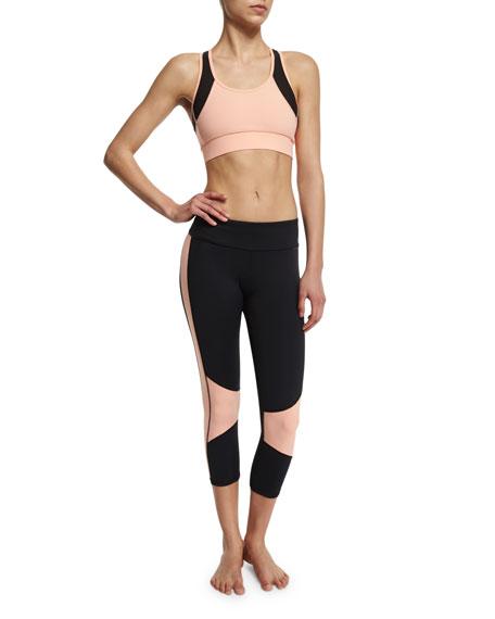 Blocked Cropped Sport Leggings