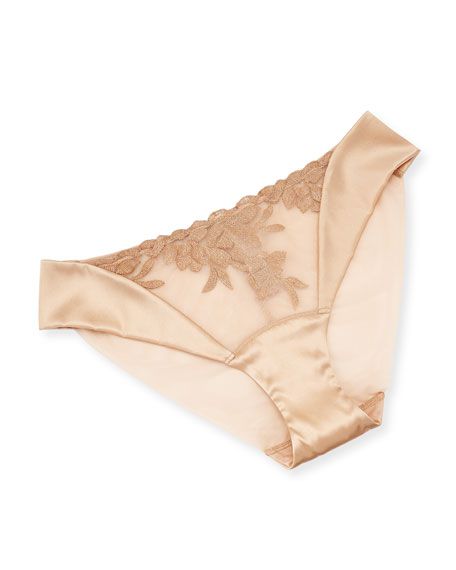 Mid-Rise Morgane Briefs, Nude