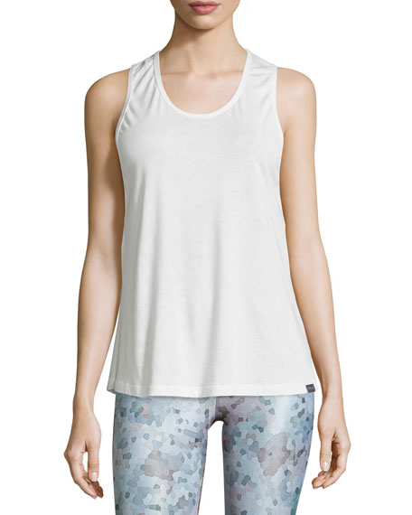 Koral Activewear Strappy-Back Mesh Sport Tank, White