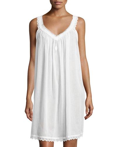 Graziella Swiss Cotton Sleeveless Babydoll, White