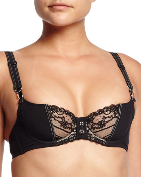 Chantal Thomass Saperlpopette Underwire Bra, Houndstooth