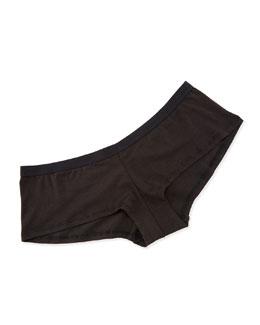 Stretch-Cotton Girl Shorts, Black
