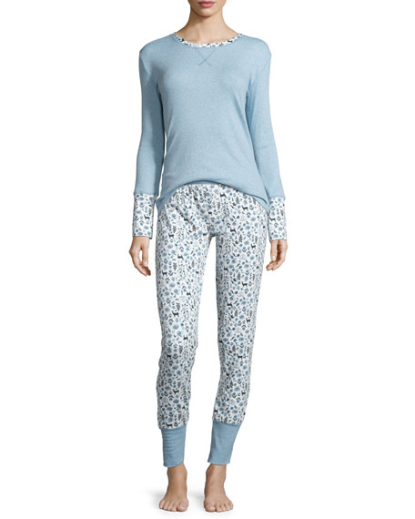 Splendid Intimates Long-Sleeve Cozy Pajama Set, My Deer