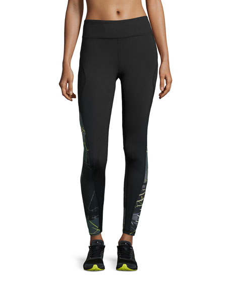 Alala Edge Printed Ankle Running Tights/Sport Leggings,