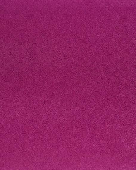 Floral-Embossed Yoga Mat, Magenta