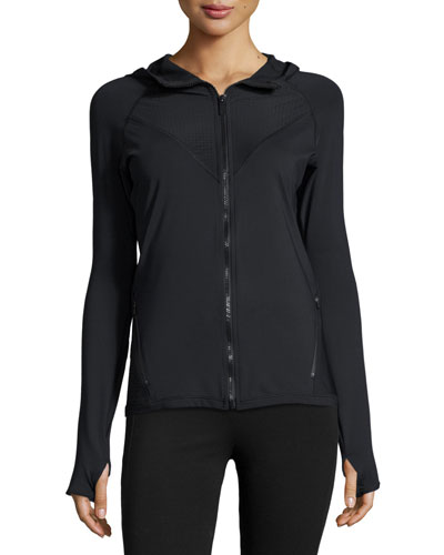 Alpine Front-Zip Sports Jacket, Black