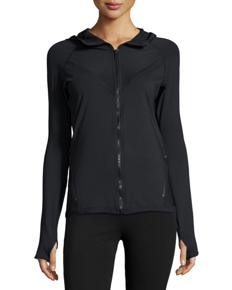 Alala Alpine Front-Zip Sports Jacket, Black