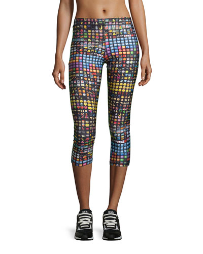 Emoji Capri Performance Leggings