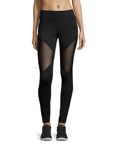 Bicknell Leggings W/Mesh Inset, Black