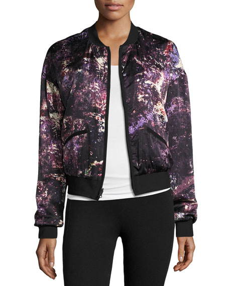 Reversible Silk & Nylon Bomber Jacket
