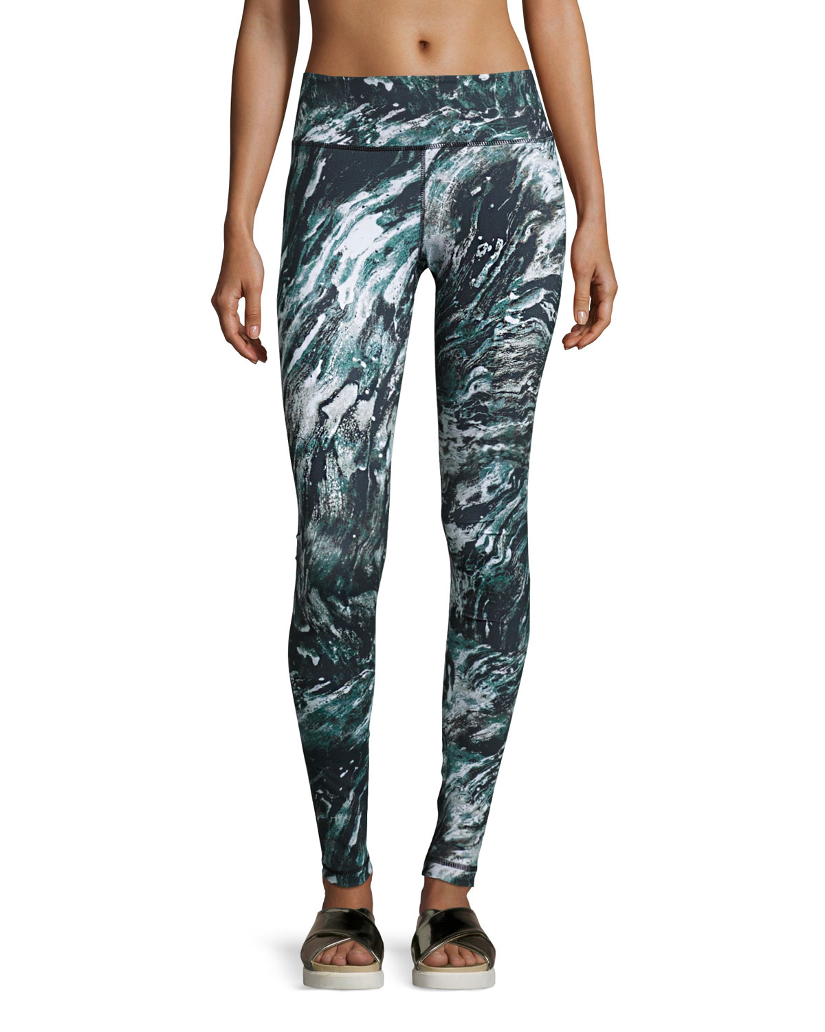 dc25bcb2d8235d Vimmia Printed Core Athletic Leggings, Marble | Neiman Marcus