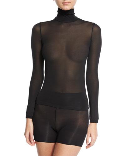 Amsterdam Turtleneck Pullover Top, Black