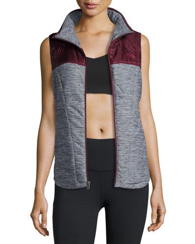 Pseudio Tunic Vest, Gray/Garnet