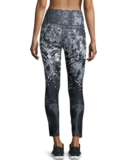 Super Waisted Printed Performance Leggings, TNF Black Geofire