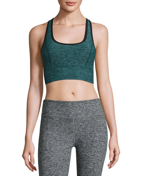 Beyond Yoga Lightweight Crossover Sports Bra, Black Arctic