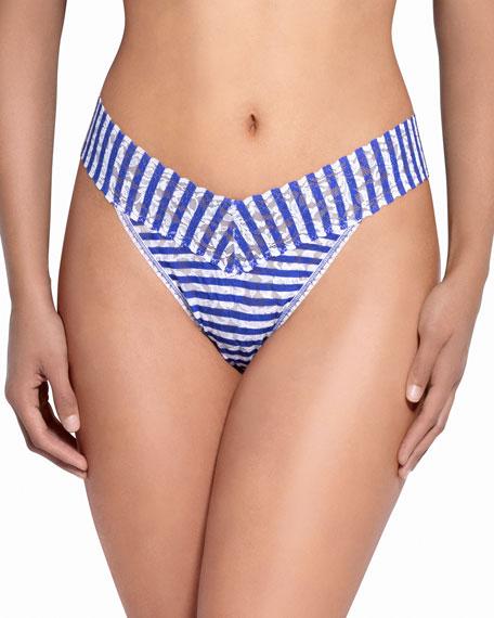 Hanky Panky Breton Stripe Signature Lace Original-Rise Thong,