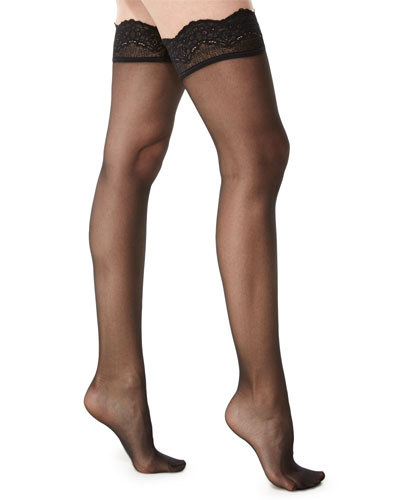 Lace-Filigree Stay-Up Thigh-Highs