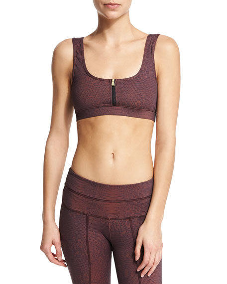 Beth Sports Bra W/Front Zip