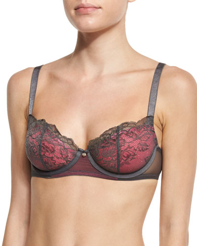 Whisper Demi-Cup Lace Spacer Bra