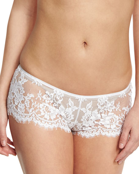 Fatal Attraction Lace Boyshorts, White