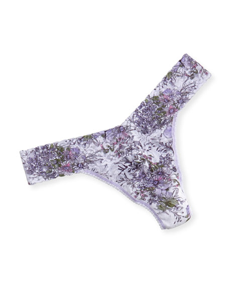 Hanky Panky Violet Spray Signature Lace Original-Rise Thong,