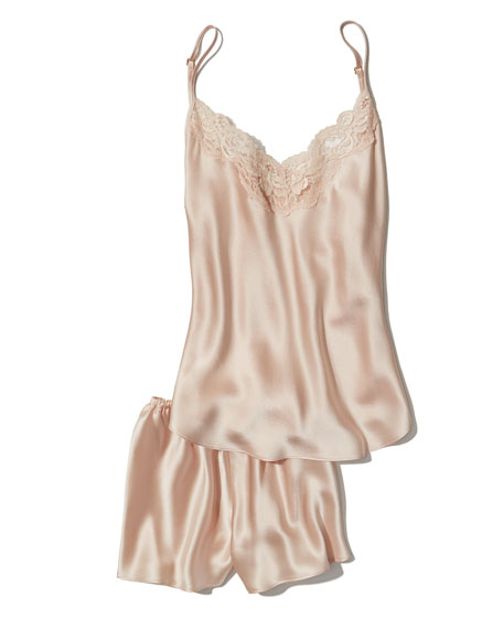 Bijoux Silk Satin Cami & Short Pajamas Set