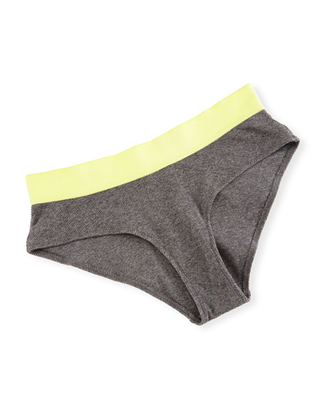 Joslyn Ribbed Hipster Briefs, Gray