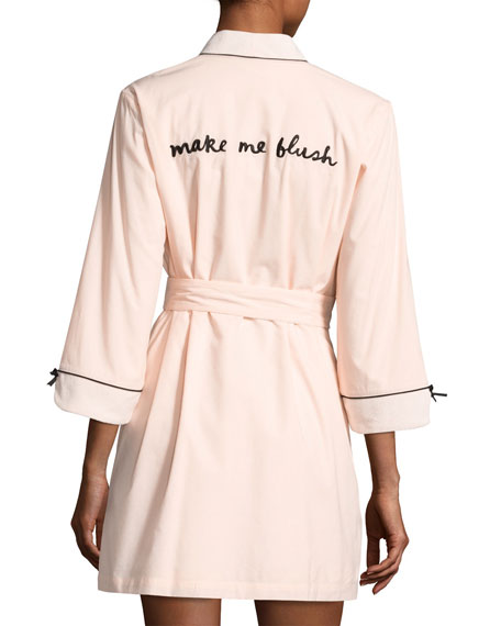 make me blush short robe, pink