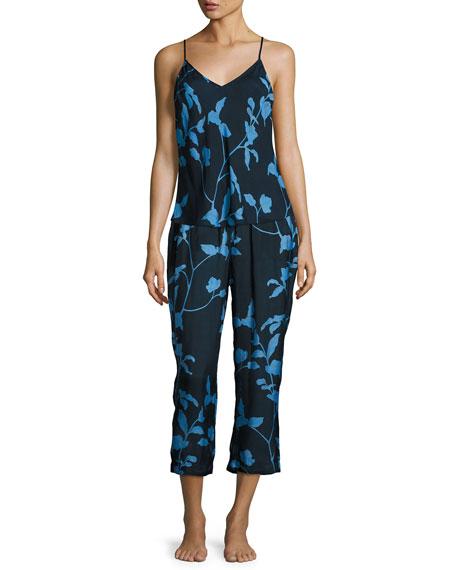 Floral-Print Bias-Cut Camisole, Multi Pattern
