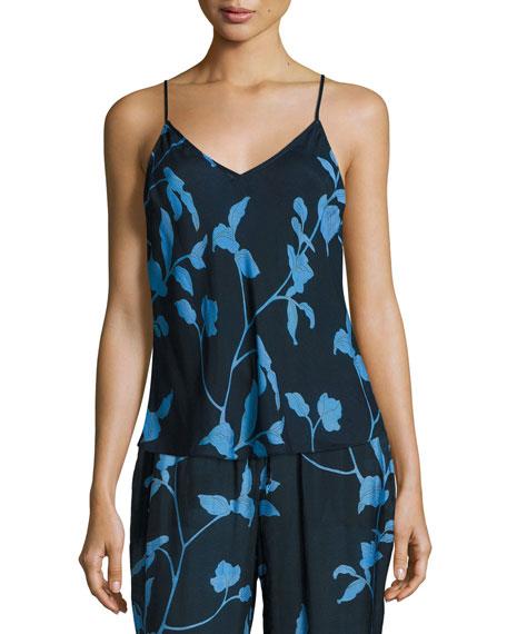 Skin Floral-Print Bias-Cut Camisole, Multi Pattern