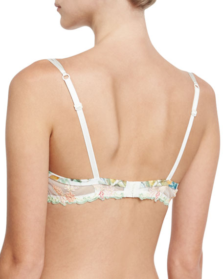 Bouquet Tropical Lace Demi Bra, Multi Pattern