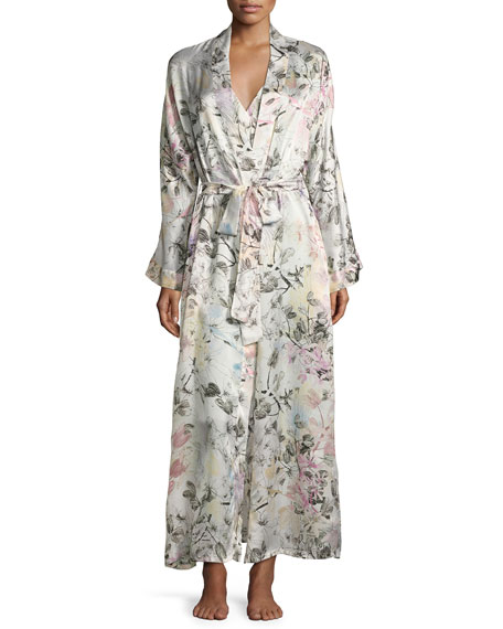 Christine Designs Juliet Printed Long Wrap Robe