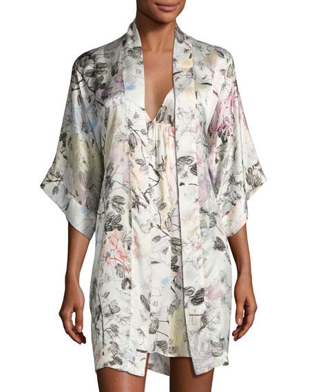 Juliet Silk Short Robe