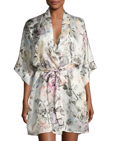 Christine Designs Juliet Silk Short Robe