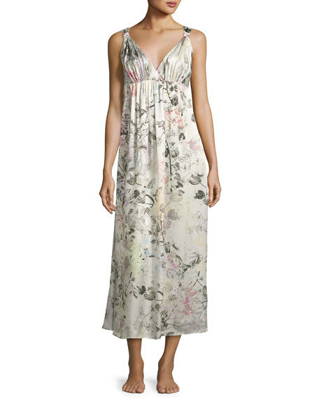 Christine Designs Juliet Silk Long Nightgown